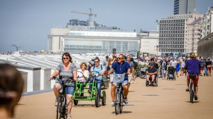 Bij grote drukte geen fietsers en gocarts toegelaten op zeedijk tussen Kursaal en Thermae Palace