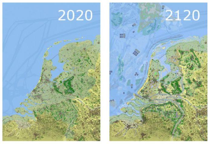 Zo gaat Nederland er in de toekomst uitzien, aldus de wetenschappers.