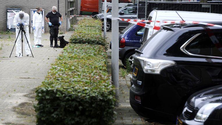 Politieonderzoek na de liquidatie in de Conradstraat. Beeld anp