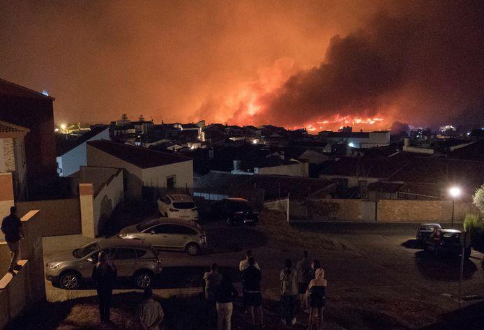 Honderden inwonders uit  Zalamea la Real moesten worden geëvacueerd.