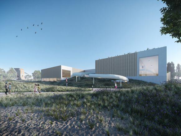 Het zwembad van Middelkerke wordt geïntegreerd in de duinen