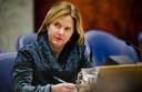 Minister Cora van Nieuwenhuizen van Infrastructuur en Waterstaat tijdens een debat in de Tweede Kamer over Lelystad Airport.
