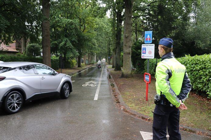 De controles in de Leopoldstraat vinden vooral plaats tijdens de spitsuren.