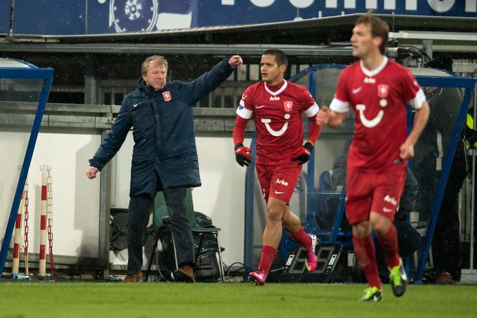 Steve McClaren in zijn laatste wedstrijd als Twente-trainer.