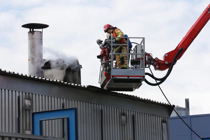 Brand bij Deurenfabriek Berkvens in Someren
