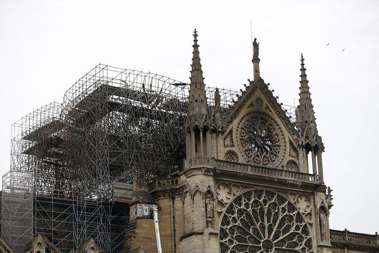 De Notre Dame vanochtend  Beeld EPA