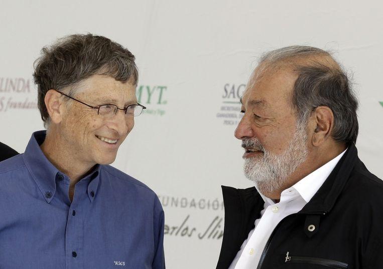 Bill Gates en Carlos Slim. Beeld reuters