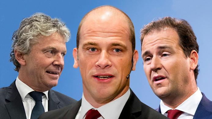 De drie rivalen: Monasch, Samsom en Asscher