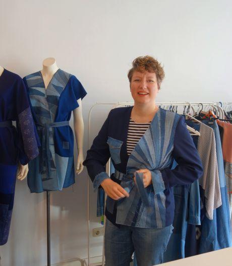 Jasmijn Miltenburg maakt duurzame kleding van gebruikte stoffen: 'Het kan me niet versleten genoeg zijn'