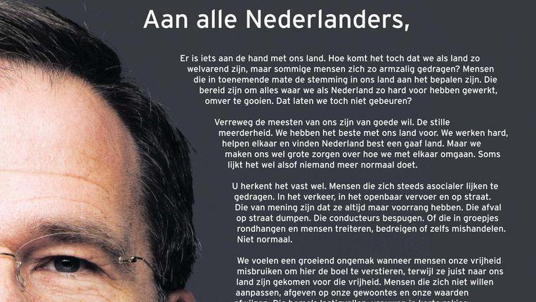 VVD-advertentie Beeld VVD