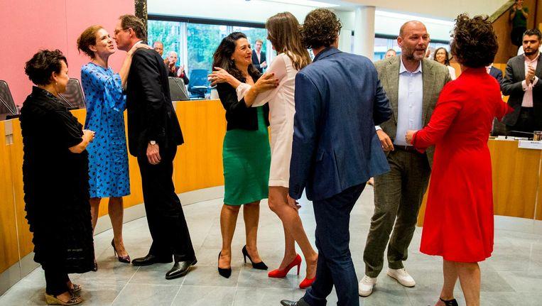 De nieuwe wethouders van Amsterdam. Beeld ANP