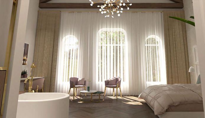 Een impressie van een van de suites in Parkhotel Madeleine