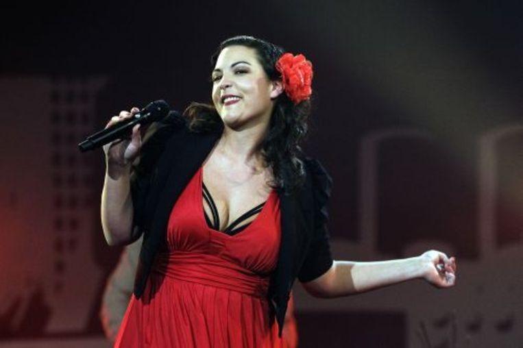 Caro Emerald tijdens een optreden. ANP Beeld