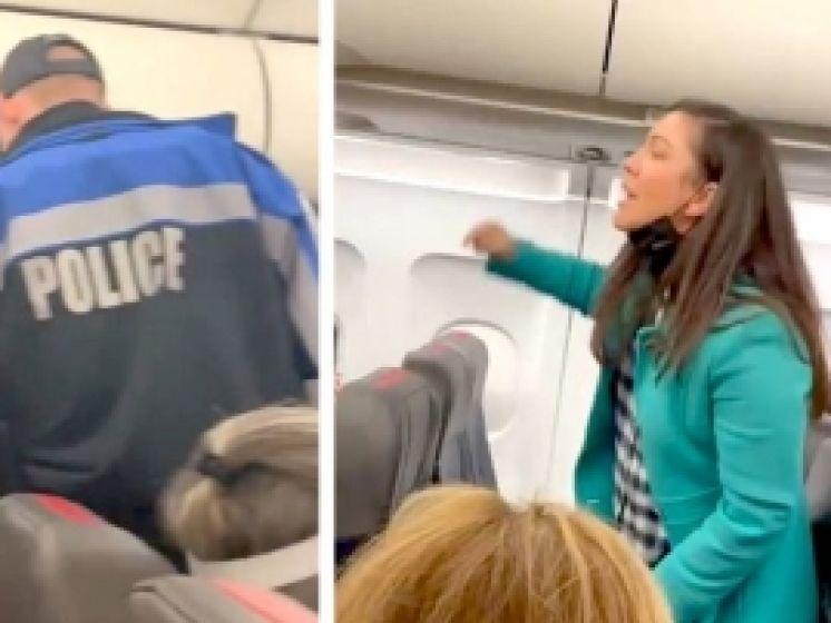 Vrouw wordt van vlucht gezet na tirade over mondmaskerplicht