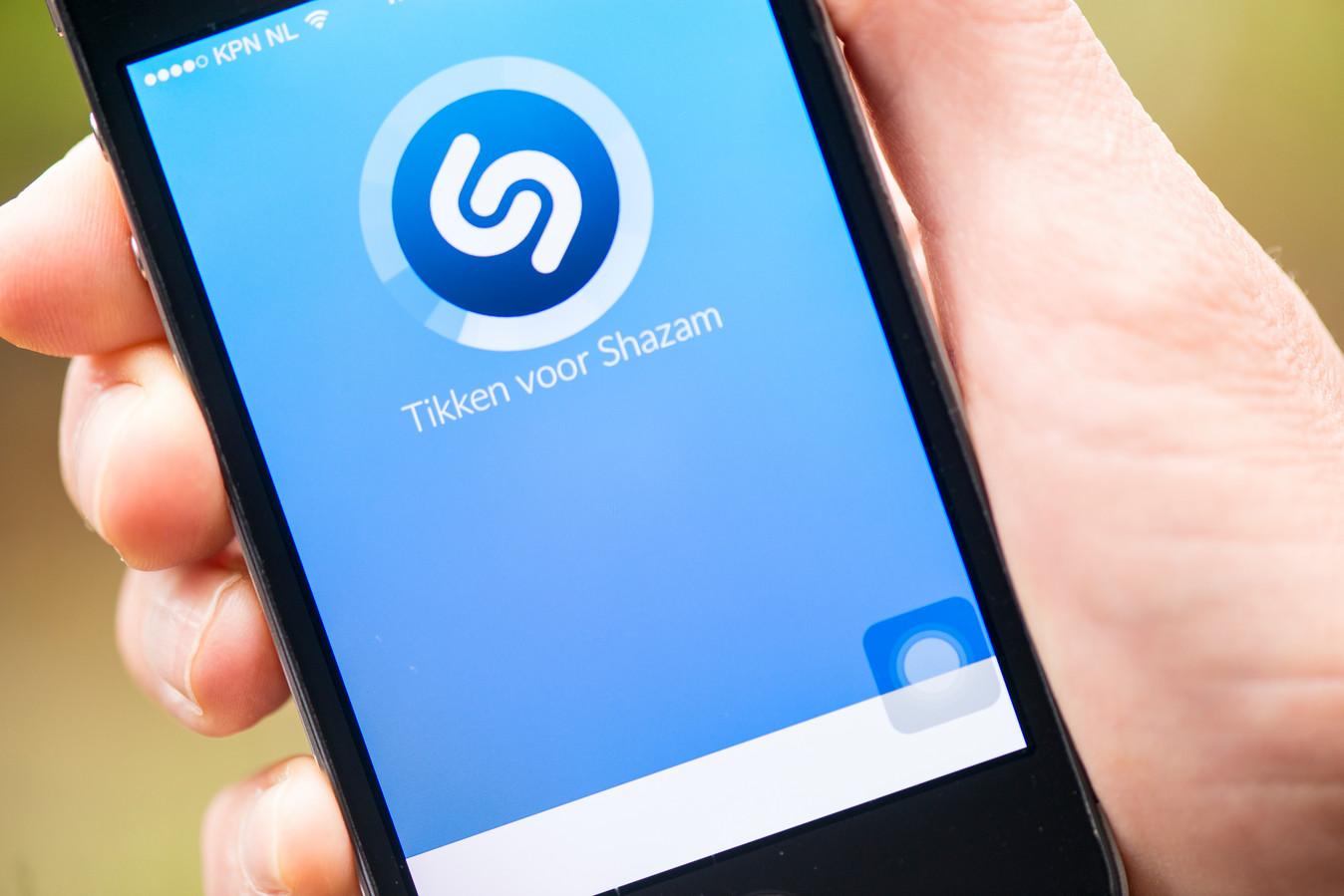 Muziekherkenningsapp Shazam.