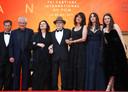 Claude Lelouch, Anouk Aimee, Jean-Louis Trintignant, Marianne Denicourt, Monica Belluci and Tess Lauvergne