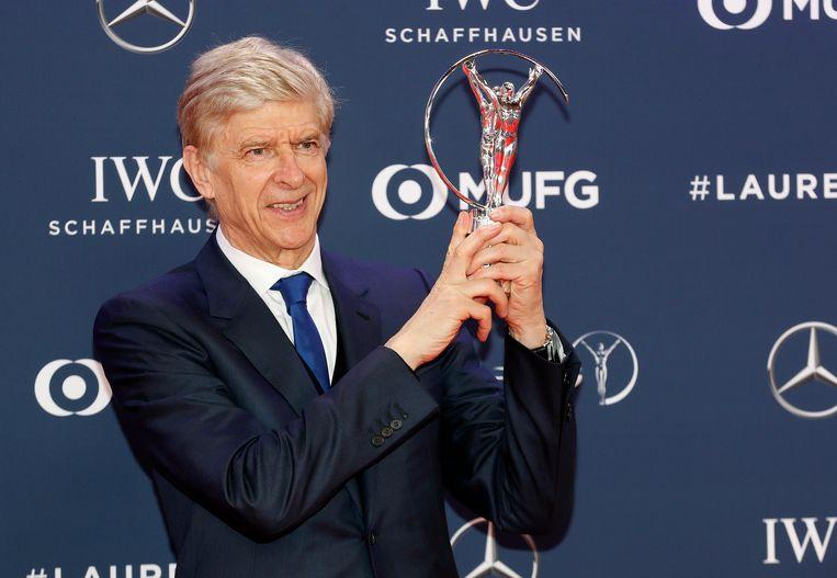 Wenger in de bloemetjes gezet maandagavond op de Laureus Sports Awards.