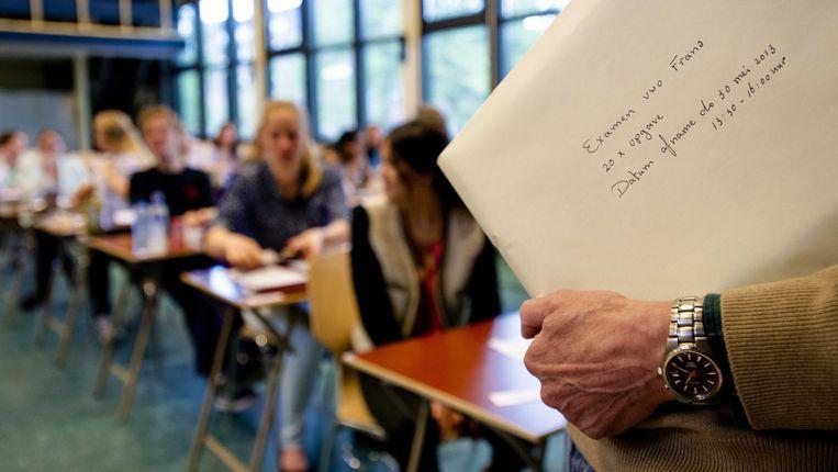 Leerlingen staan op het punt hun examen te maken Beeld anp