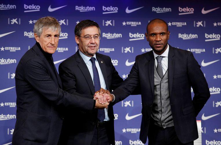 Trainer Sétien, Bartomeu en technisch directeur Abidal.