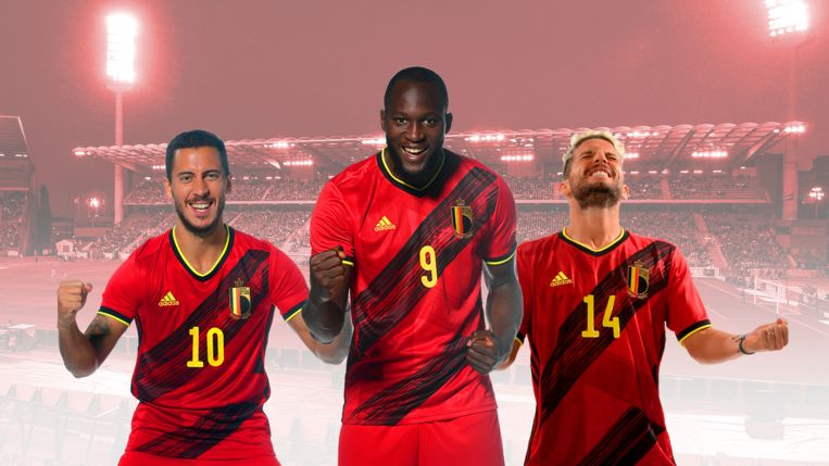 Hazard, Lukaku en Mertens.