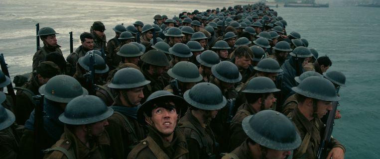 Scène uit de Hollywood-kaskraker 'Dunkirk'. Beeld RV