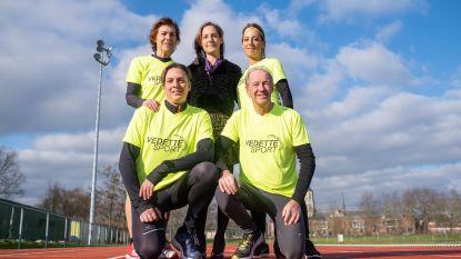Familie van ex-borstkankerpatiënte Véronique loopt honderd kilometer tegen kanker