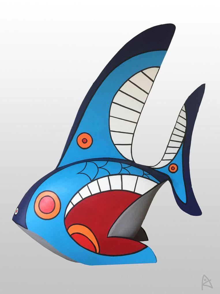 De vis van kunstenaar Albert Kramer