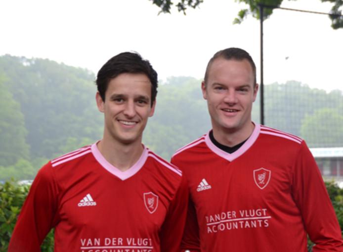 Jeroen Augustijn (rechts) scoorde een hattrick tegen Dosko. (archieffoto)