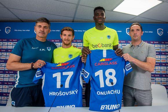 Patrick Hrosovsky en Paul Onuachu officieel voorgesteld.