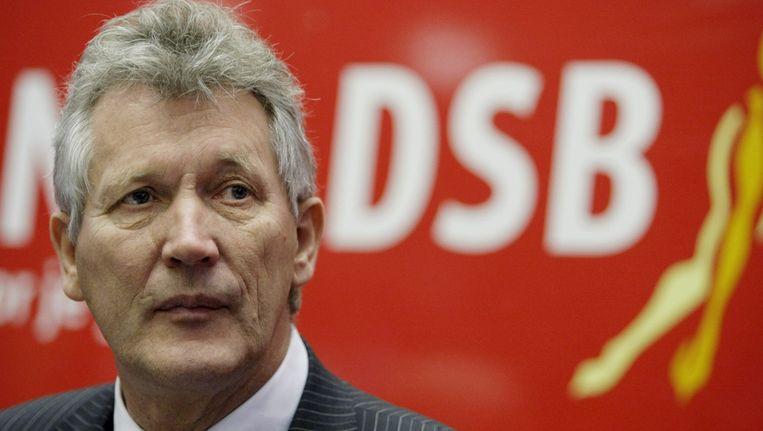 Voormalig DSB-topman Dirk Scheringa tijdens een persconferentie op het DSB hoofdkantoor in 2009. ©ANP Beeld