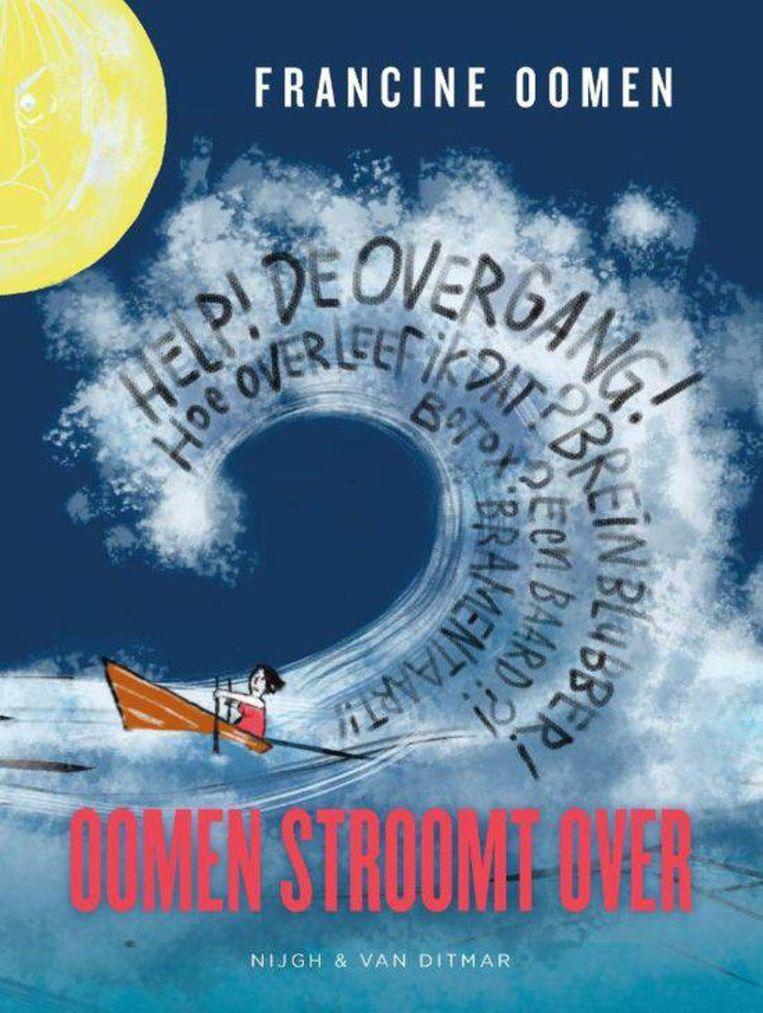 Francine Oomen maakte zelf de tekeningen voor haar graphic novel Oomen stroomt over. Beeld