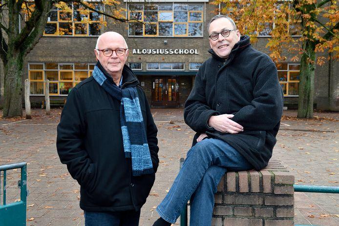 Peter Kerklingh (l.) heeft een boek geschreven over de tijd dat hij samen met Ben Stoelinga op de Aloysiusschool zat.