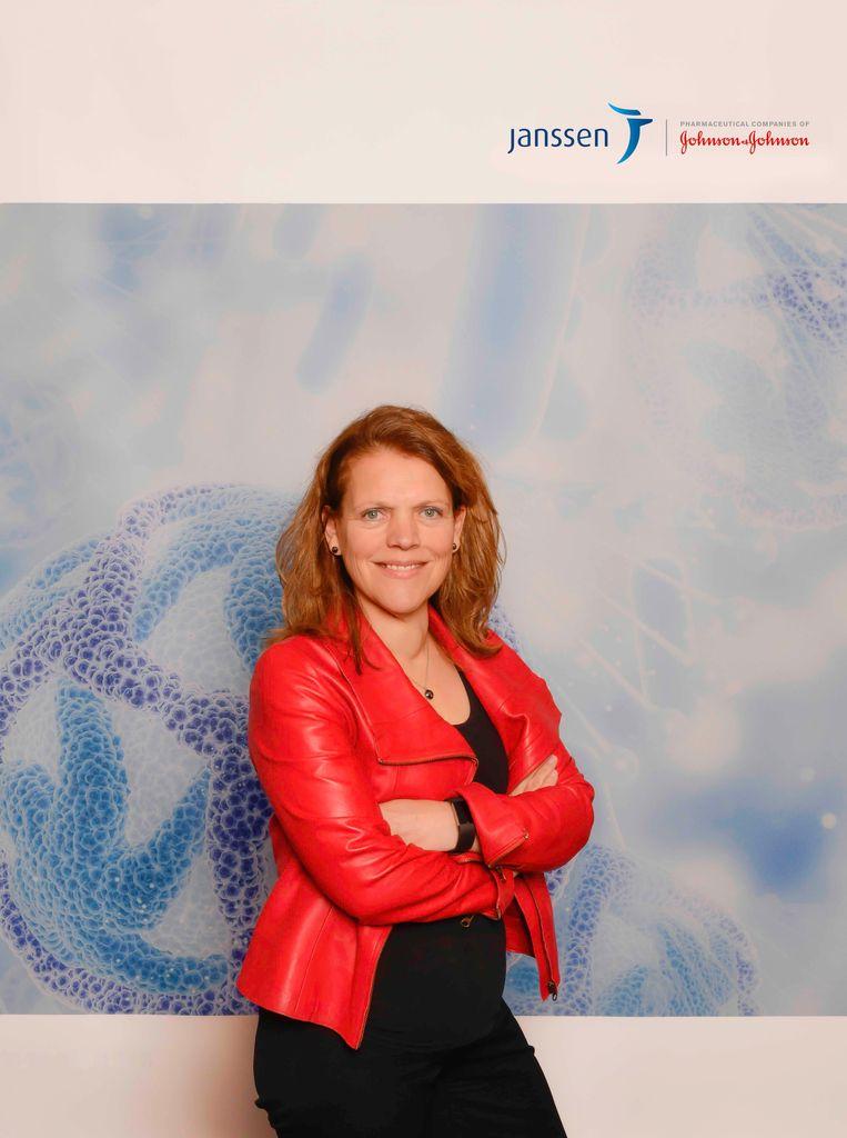 Hanneke Schuitemaker, hoofd virale vaccins bij Janssen Vaccines in Leiden en hoogleraar virologie aan de Universiteit van Amsterdam.   Beeld