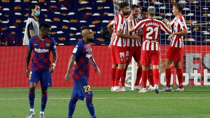 Nieuwe opdoffer voor Barcelona in titelstrijd: Atlético en sterke Carrasco dwingen gelijkspel af in Camp Nou