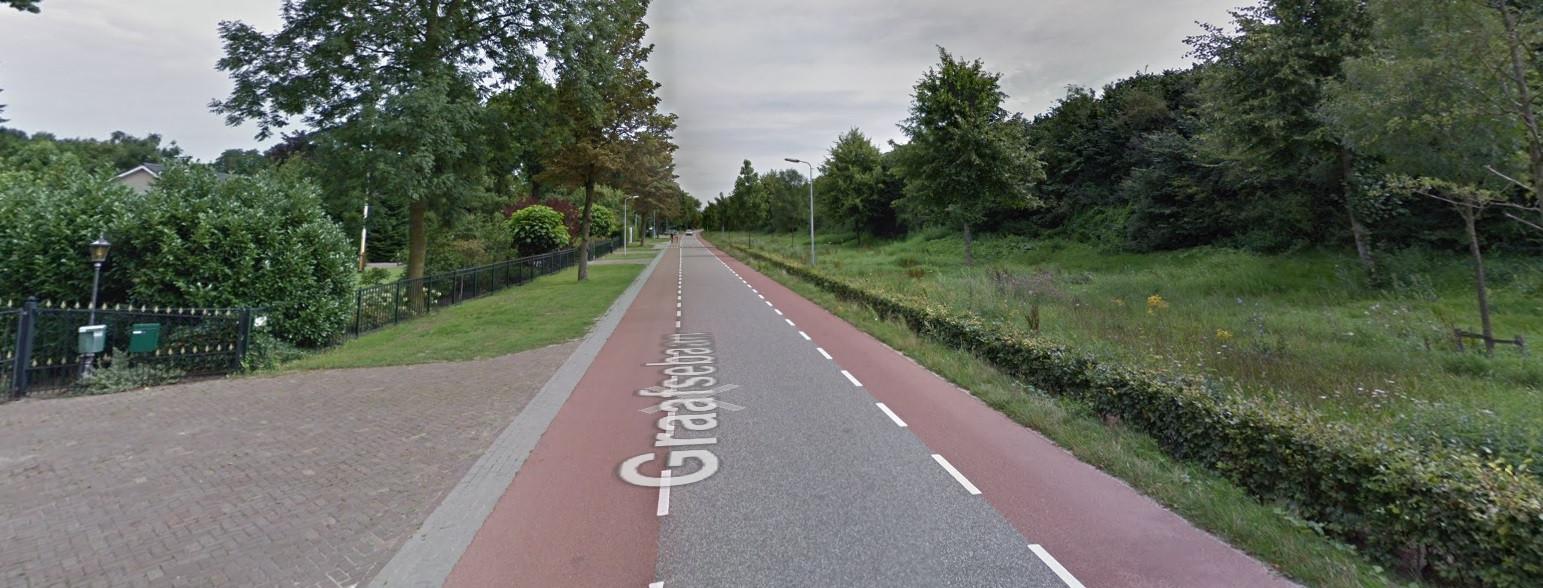 De Graafsebaan vlakbij restaurant Wapen van Rosmalen waar op 26 juli 2014 een Bossche fietser door een auto werd geschept.