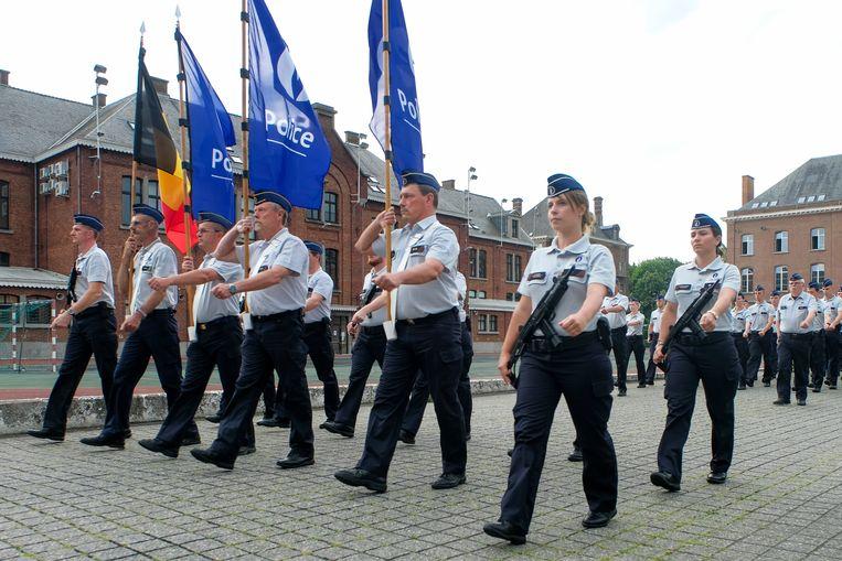 Archiefbeeld: politie oefent voor nationale feestdag