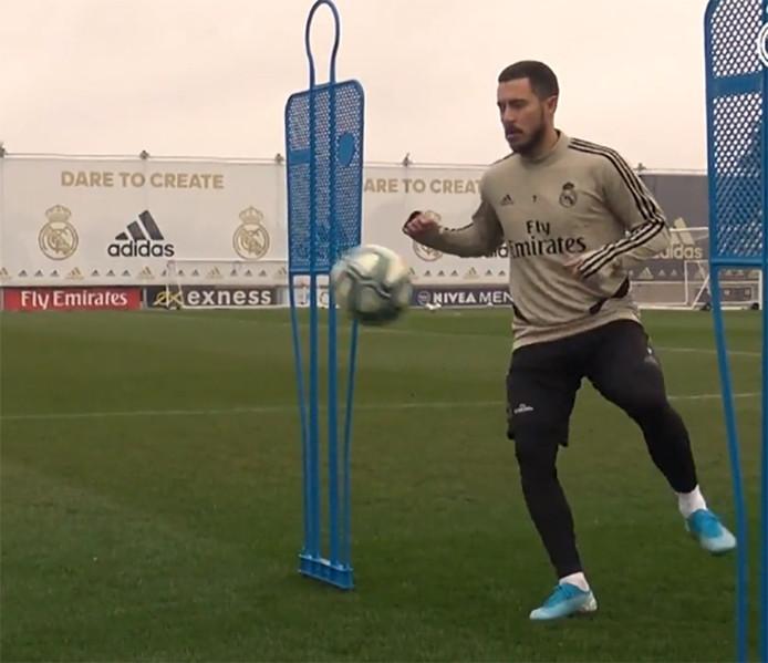 Eden Hazard a repris l'entraînement avec ballon