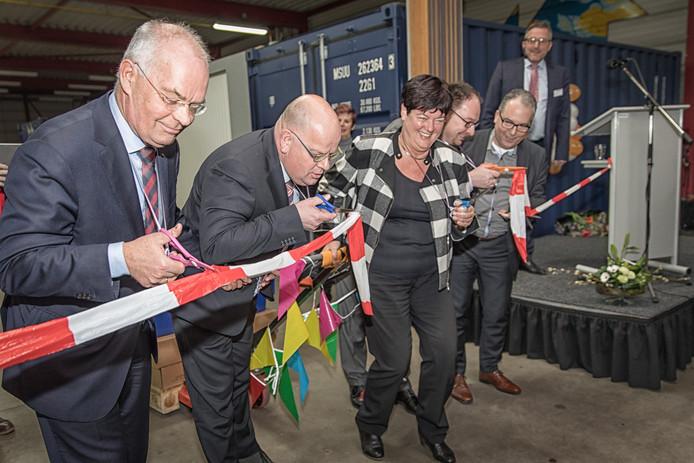 De officiële opening van de voedselbank in 2017.