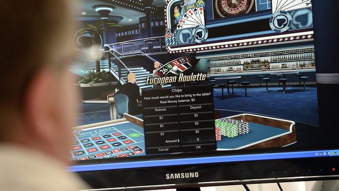 Een online casino waar mensen kunnen gokken via het internet