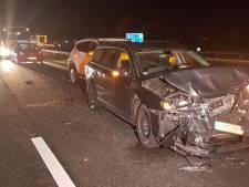 Flinke vertraging op A28 tussen Staphorst en Zuidwolde na aanrijding met vijf auto's