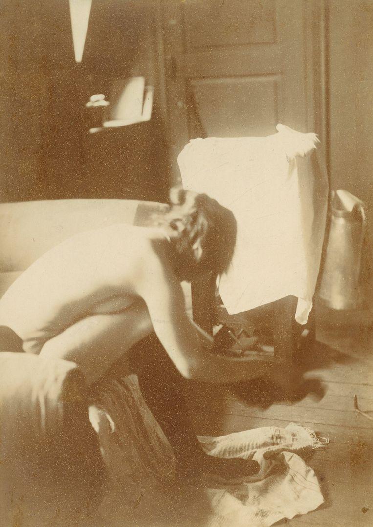 Edgar Degas, Zittend naakt (1895).  Beeld Getty