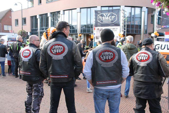 Bikers bijeen in Winterswijk voor motortoerrit.