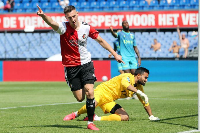 Robert Bozenik scoorde vanmiddag twee keer tegen Sparta (3-0).