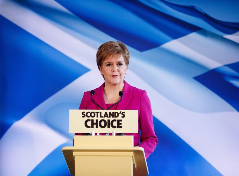 Sturgeon, premier van de Schotse deelregering, wil een nieuw referendum over Schotse onafhankelijkheid.