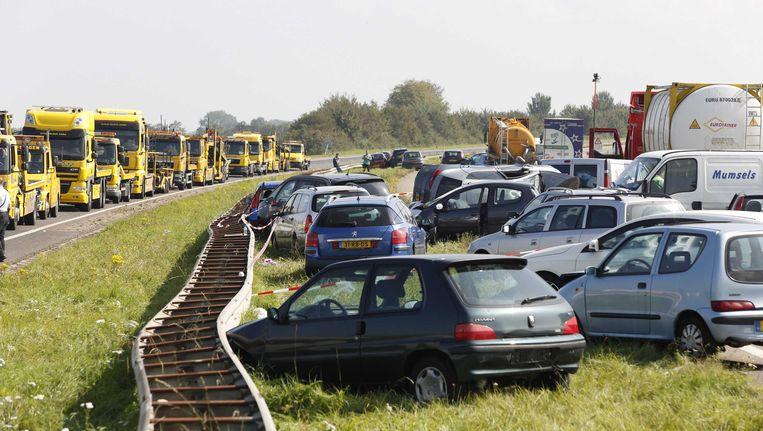 Bij de ongevallen op de A58 kwamen twee mensen om het leven Beeld null