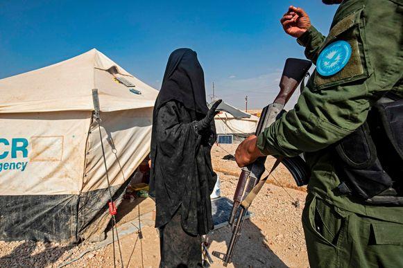 Het kamp Al Hol in het noorden van Syrië.