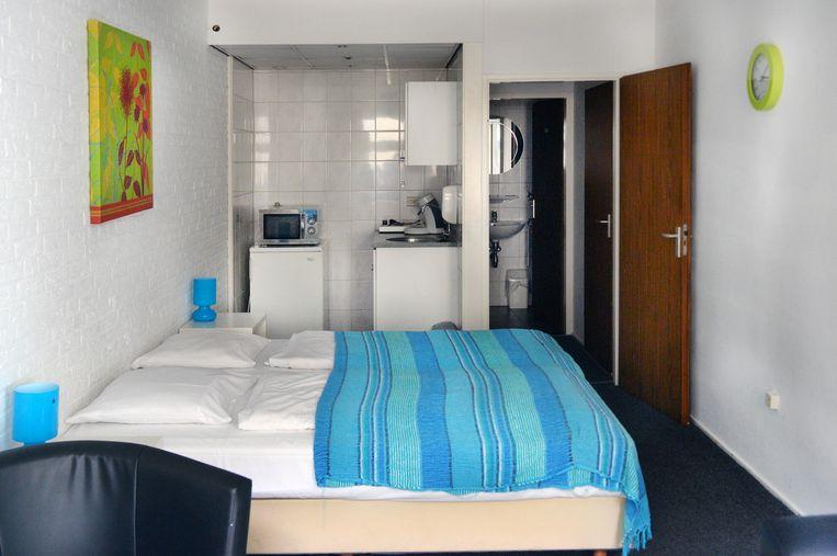 Een kamer in Hotel Botterweck in Valkenburg. Beeld null