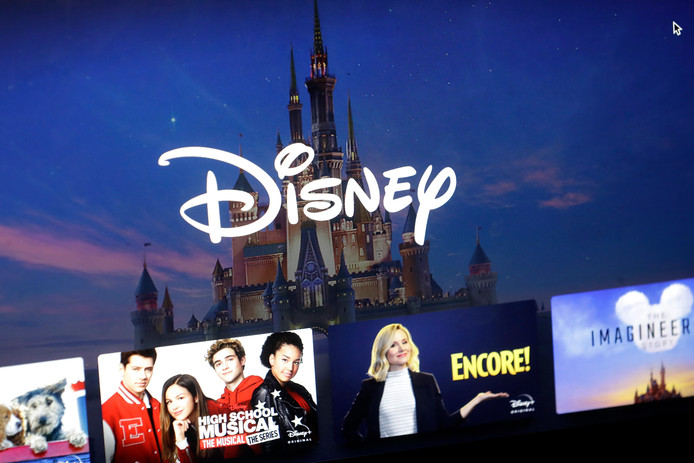 Het menu van Disney+