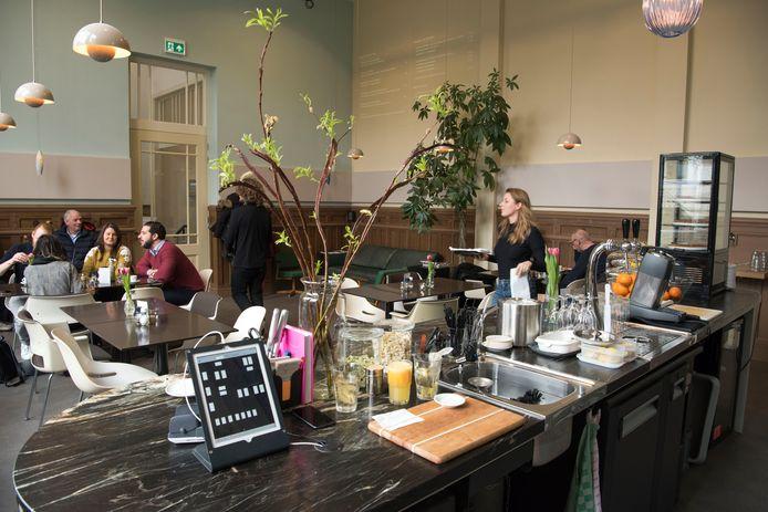 Een lunch bij café De Groen restaurant aan de Weverstraat in Arnhem.