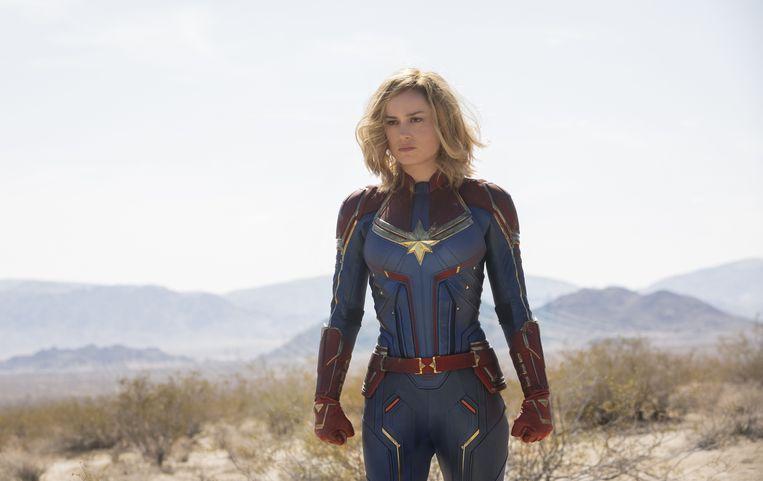 Brie Larson in de rol van Captain Marvel.